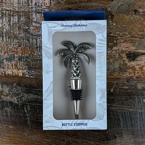 NWT Tommy Bahama Silver Palm Tree Bottle Stopper